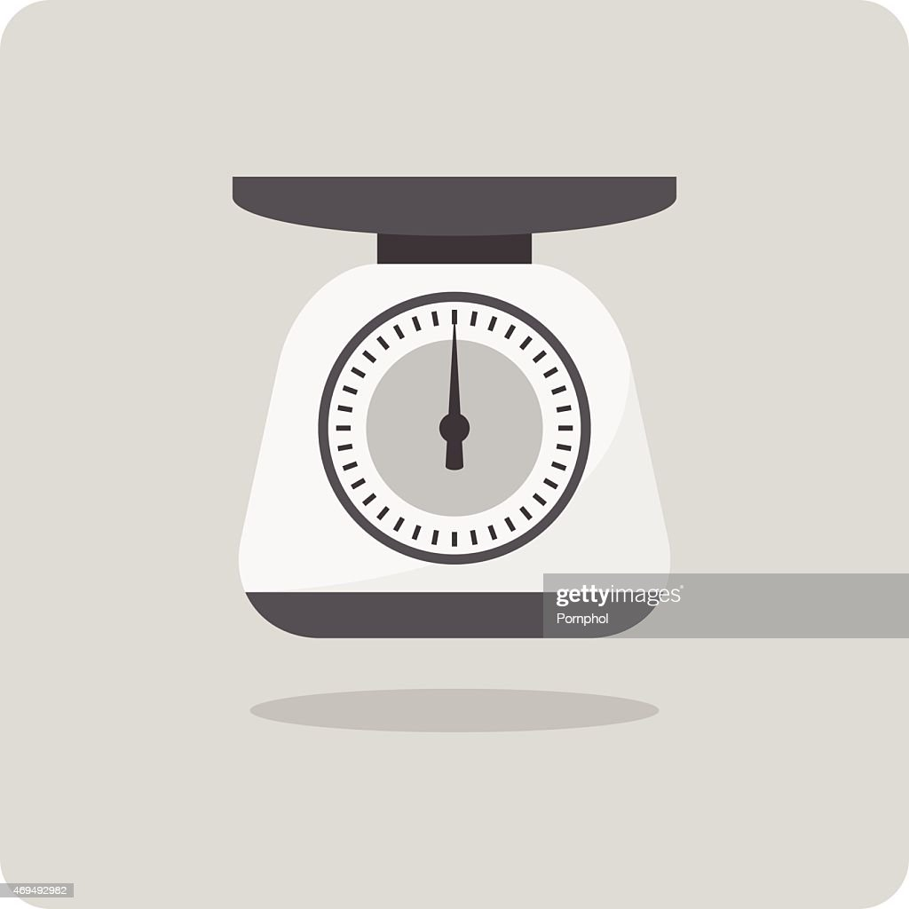 Vector of flat icon, weight scales
