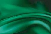 Vector of Green silk background
