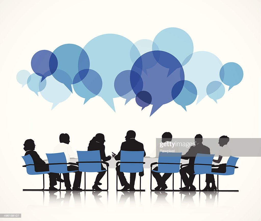 Vector of Group of People Discussing