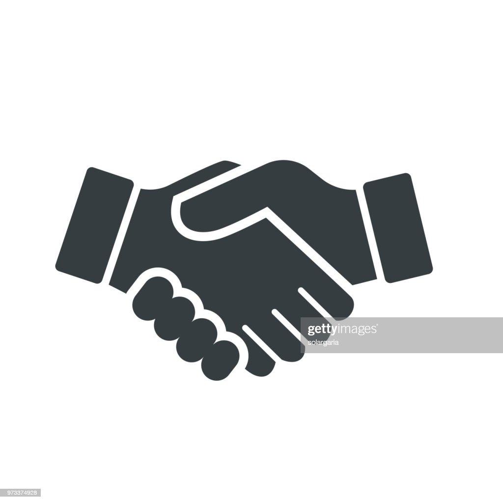 Vector of Handshake Icon - vector iconic design