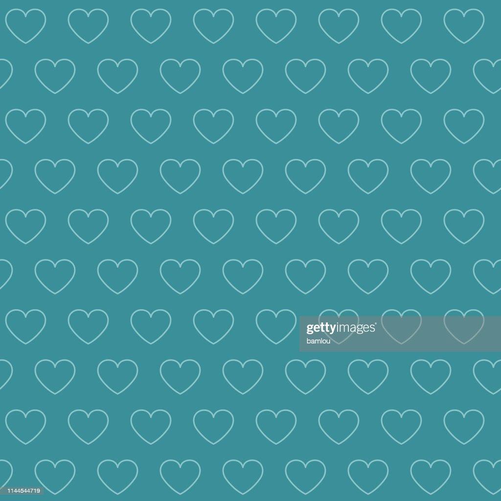 Vector of Heart Bluish Seamless Pattern Background
