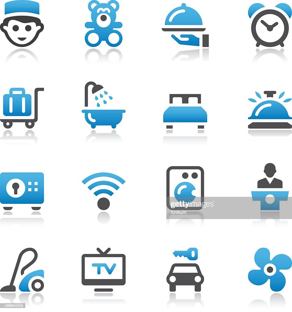 Vector of hotel industry icons