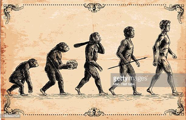 vector of human evolution concept - men stock illustrations