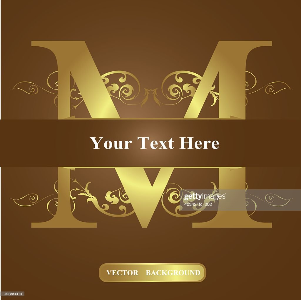 Vector of Letter in the old vintage style. ABC concept