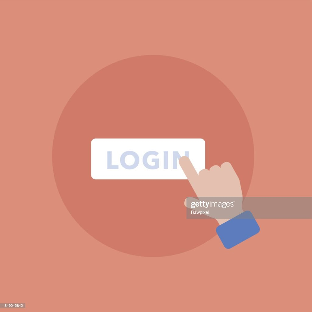 Vector of login icon