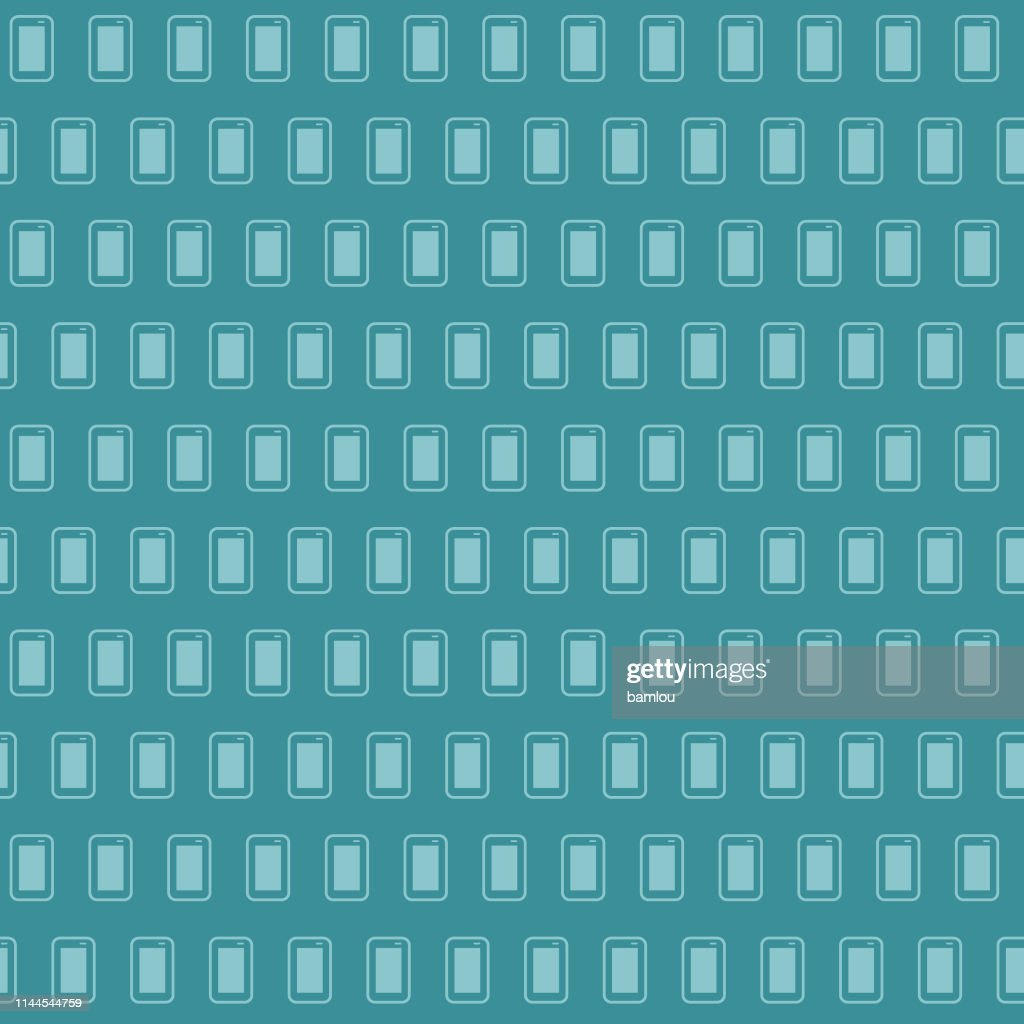 Vector of Mobile Bluish Seamless Pattern Background