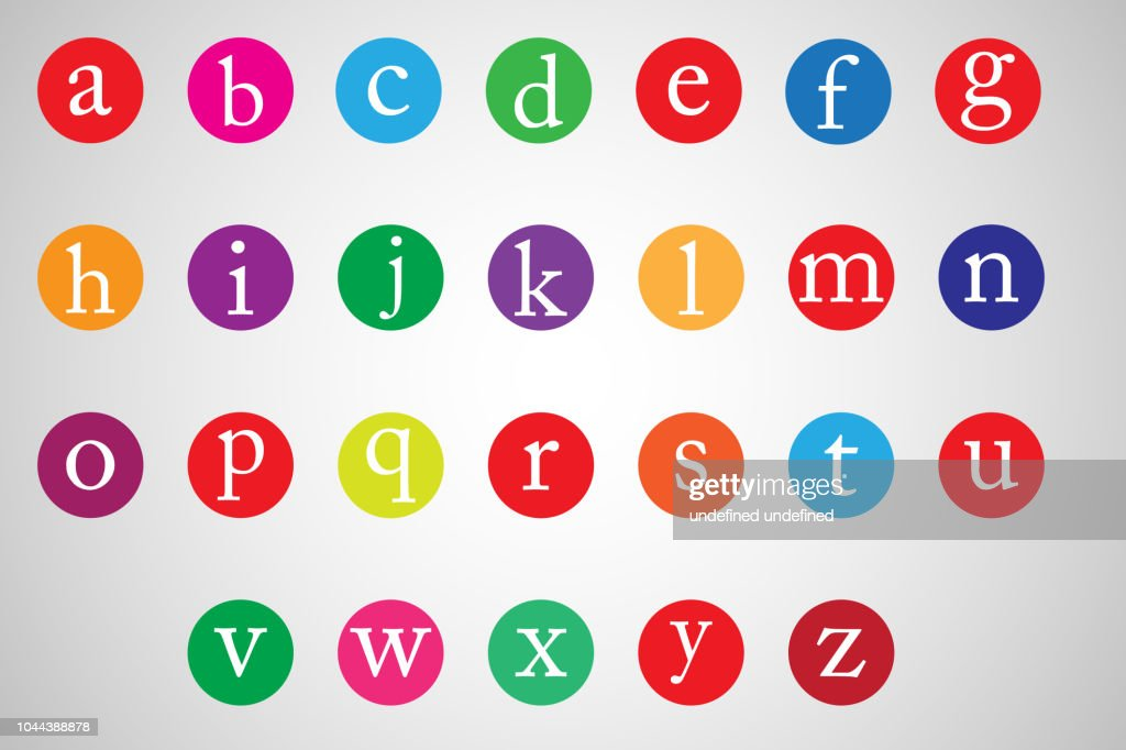 Vector of modern font and alphabet. Illustration