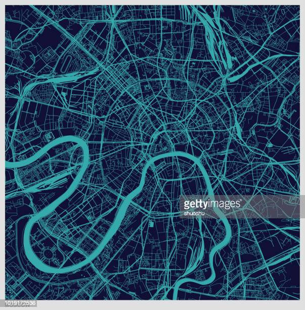 vector of moscow city map pattern