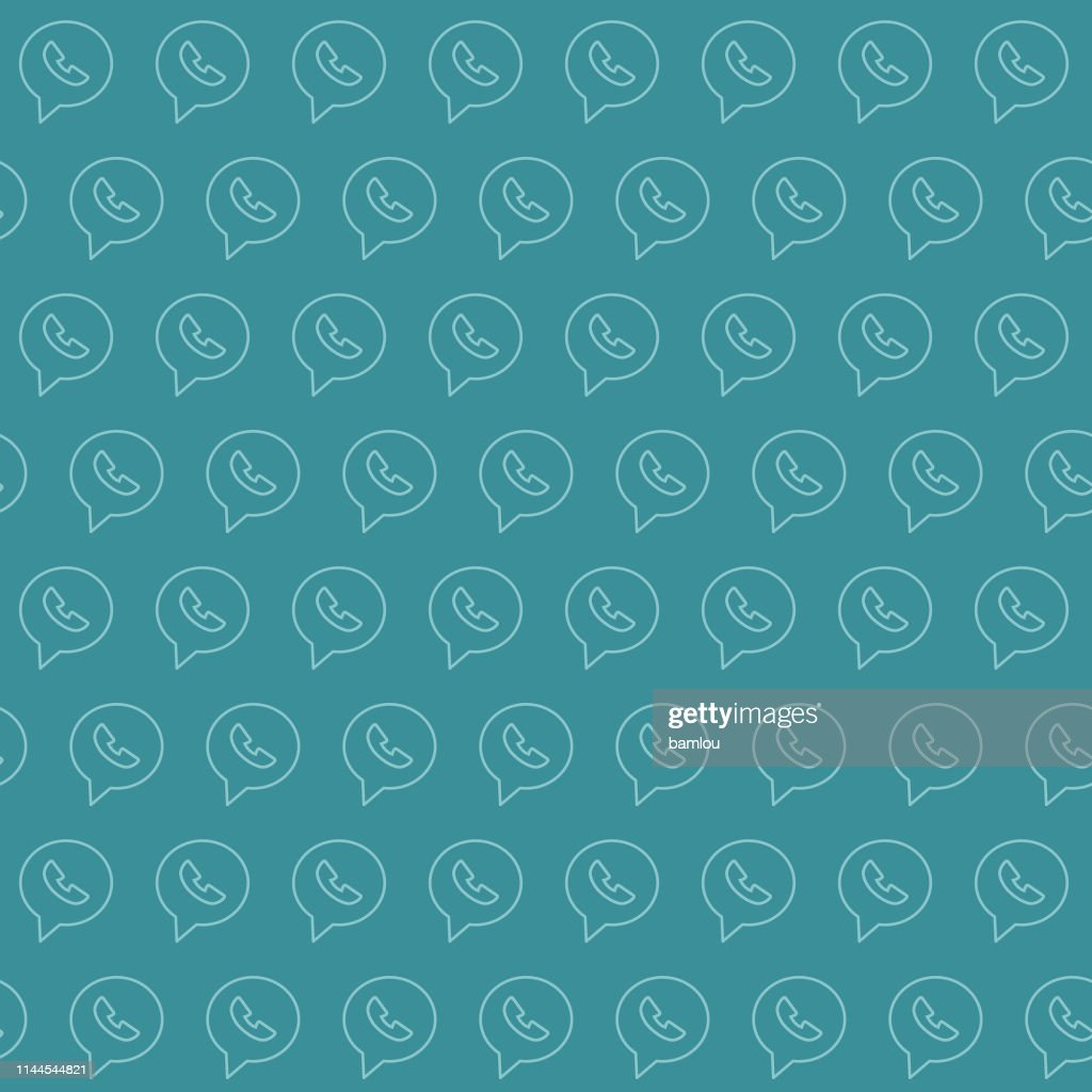 Vector of Phone Bubble Bluish Seamless Pattern Background