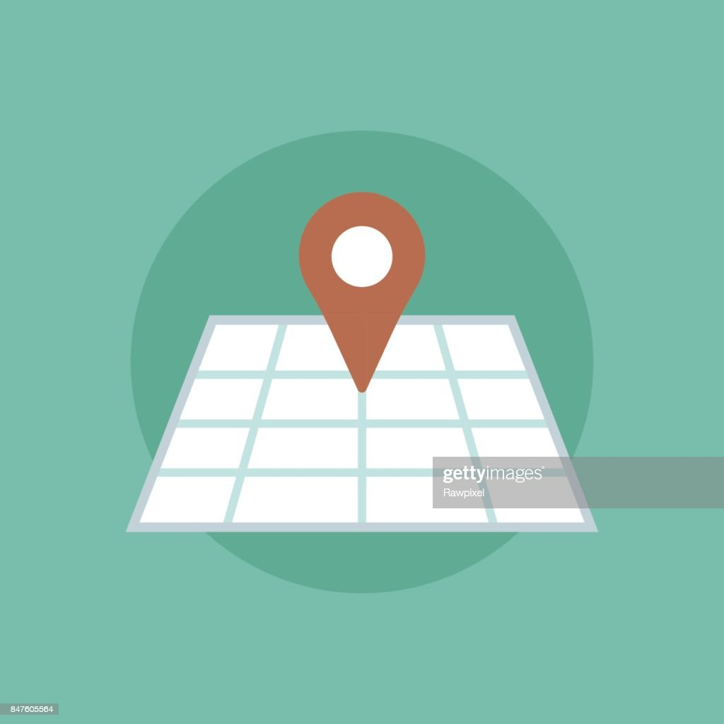 Vector of pinned map icon