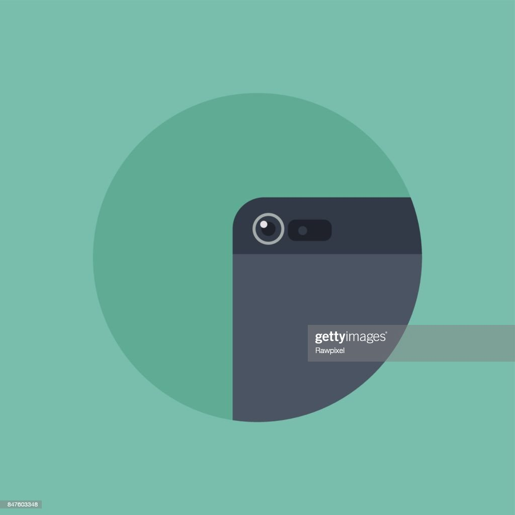 Vector of smartphone camera