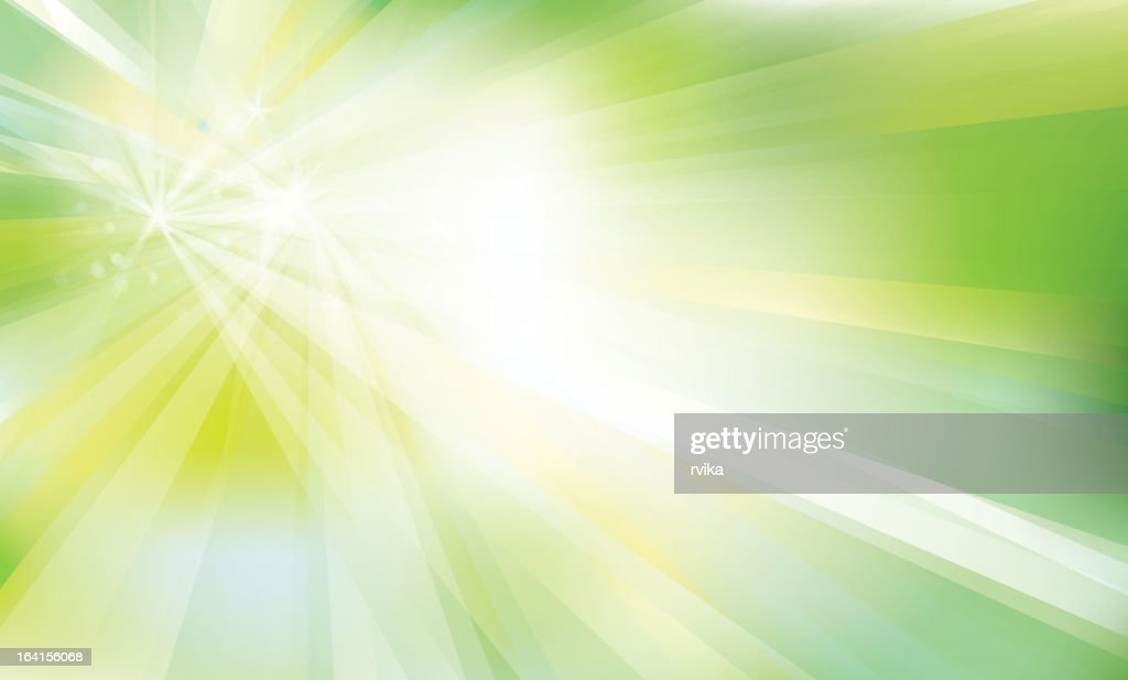 Vector of spring background with sunrays
