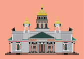 vector of st. Isaac's Cathedral st.peterburg russia isolate
