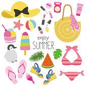 Vector of summer fashion illustration