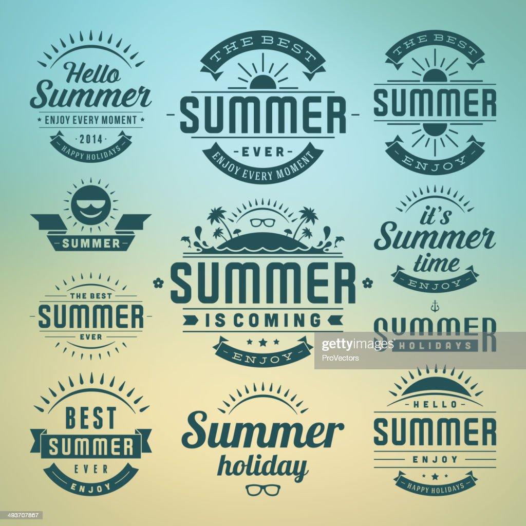 Vector of summer time celebrations