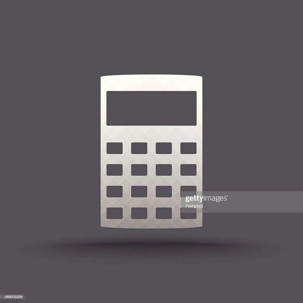 Vector of transparent calculator icon
