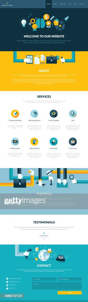 Vector of website design template page