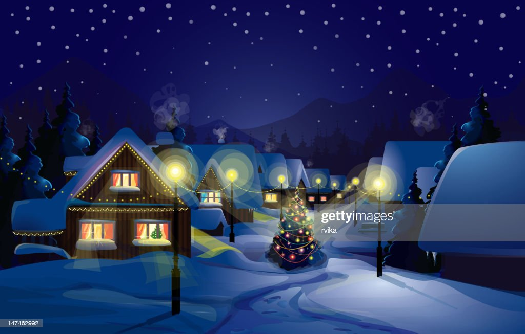 Vector of winter landscape.Merry Christmas!