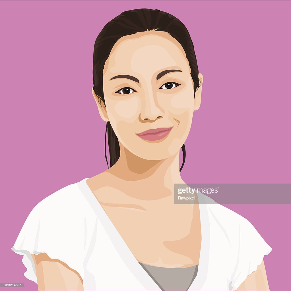 Vector of Wise Lady Portrait