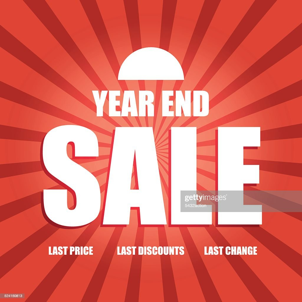 Vector of year end sale poster