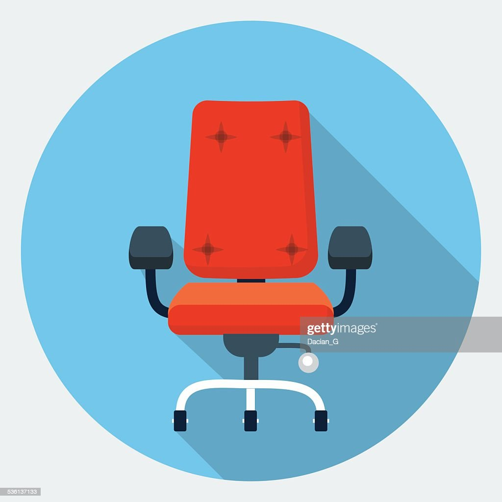 Vector office chair icon