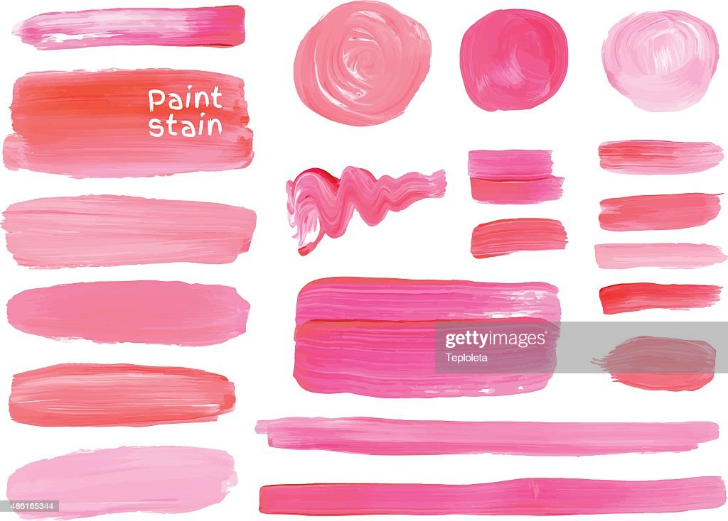 Vector oil paint texture stains set. Make up colors.