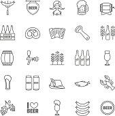 Vector Oktoberfest thin line icons