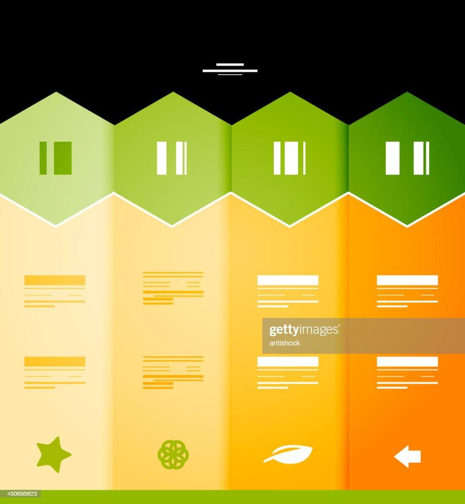 Vector orange infographic background