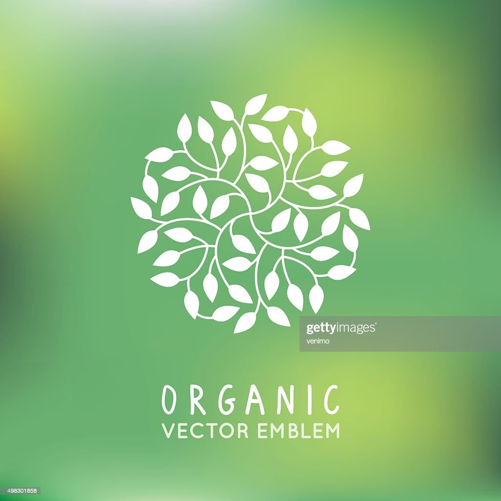 Vector organic and natural emblem