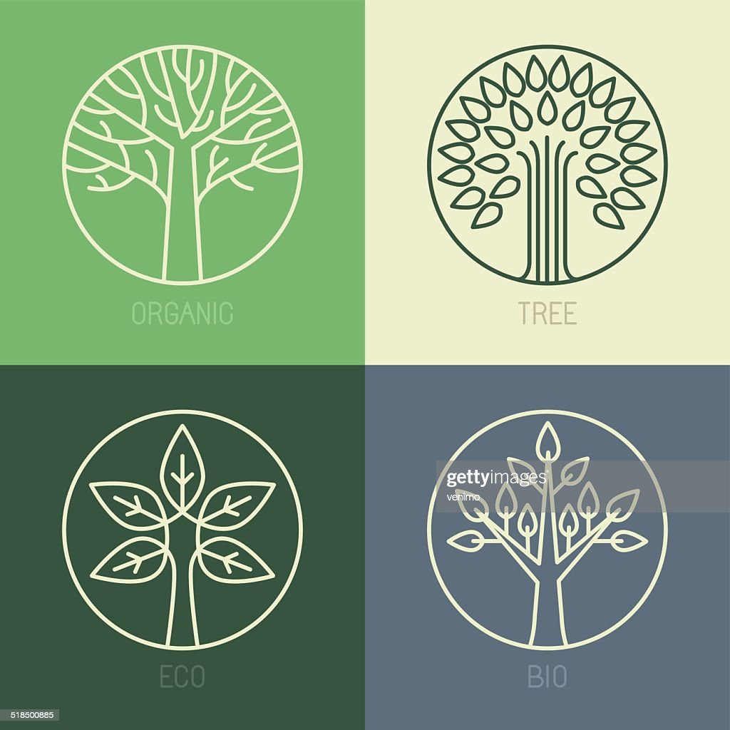 Vector organic badges