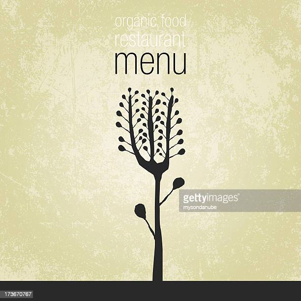 vector organic food restaurant menu design - menu background stock illustrations