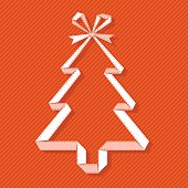 Vector origami paper Christmas tree