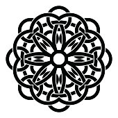 Vector ornament, decorative Celtic knots and curls.