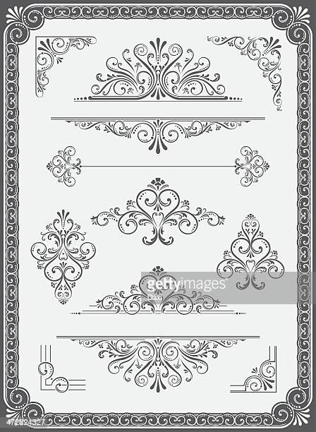 Vector Ornament - Frame, Dividers, Corners and Scrolls