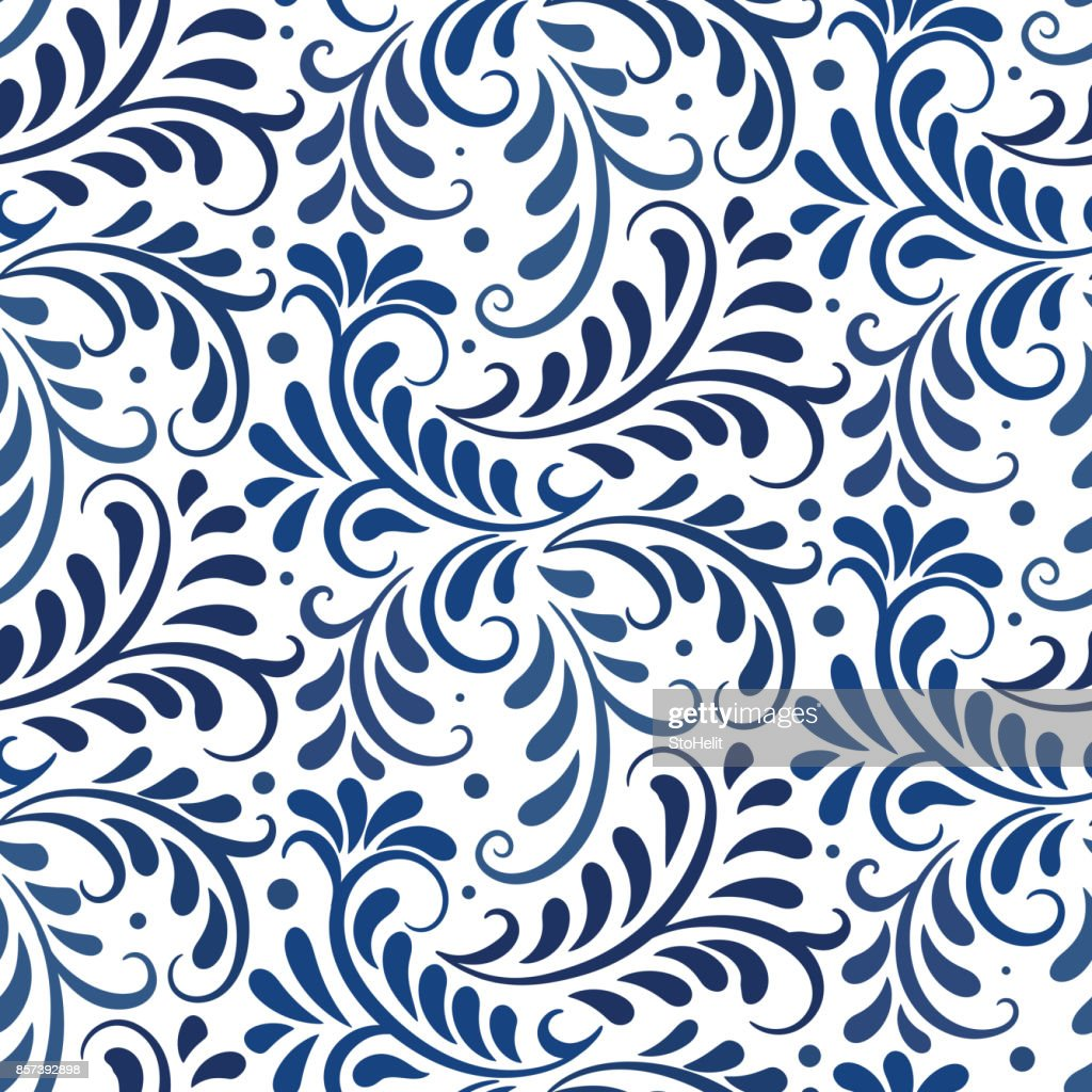 Vector ornament seamless pattern. Floral ornate background
