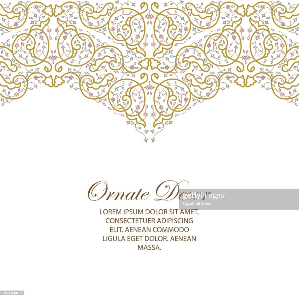 Vector ornamental  decorative element.