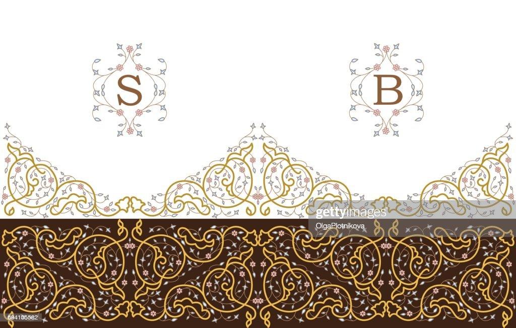 Vector ornamental  decorative frame.