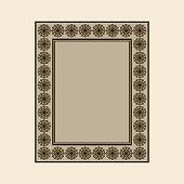 Vector ornamental frame