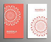 Vector ornamental mandala cards