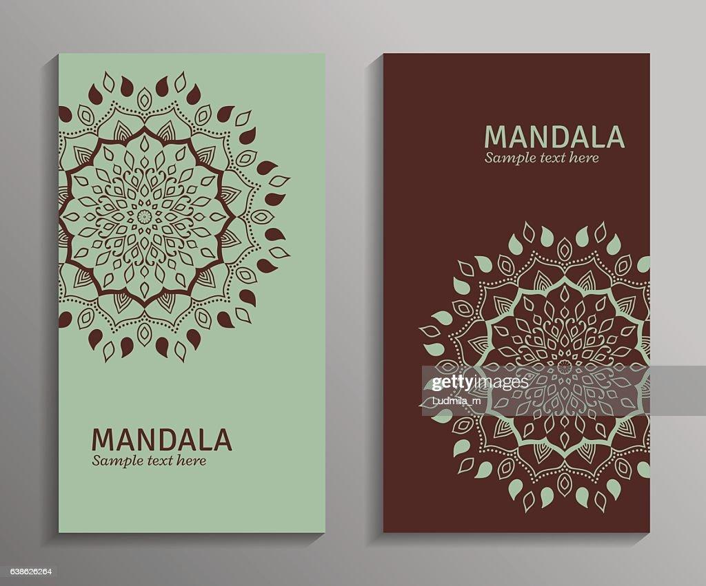 Vector ornamental mandala cards