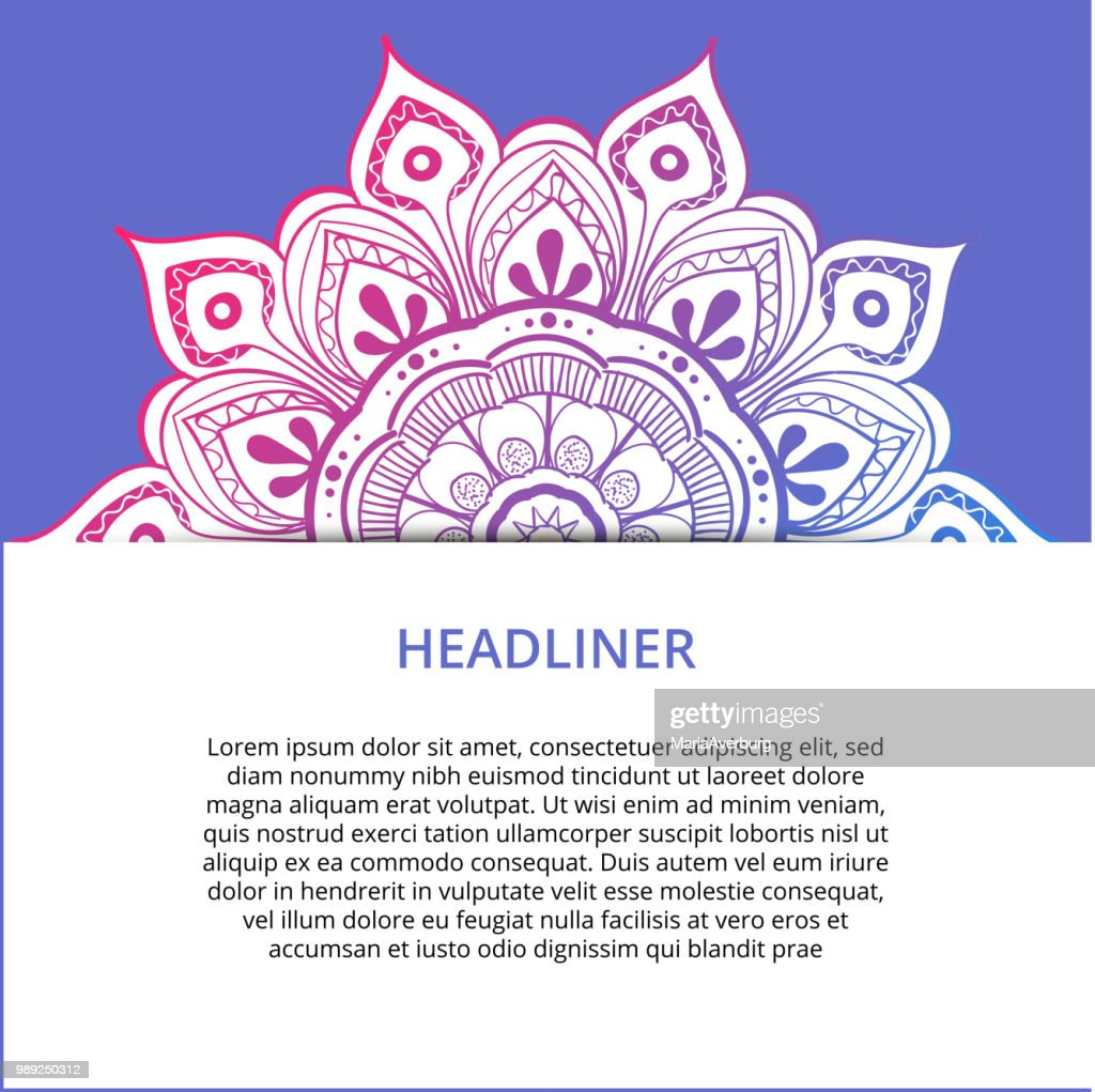 Vector ornamental mandala, printable round pattern with many details. Arabic, indian, asian, african motif for greeting, business card, banner, invitation, background, brochure, label, etc.