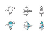 vector outline icons