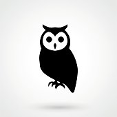 Vector owl icon. Owl logo