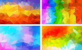 vector pack low poly background colorful color