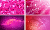 vector pack low poly background pink color
