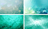 vector pack low poly background teal color