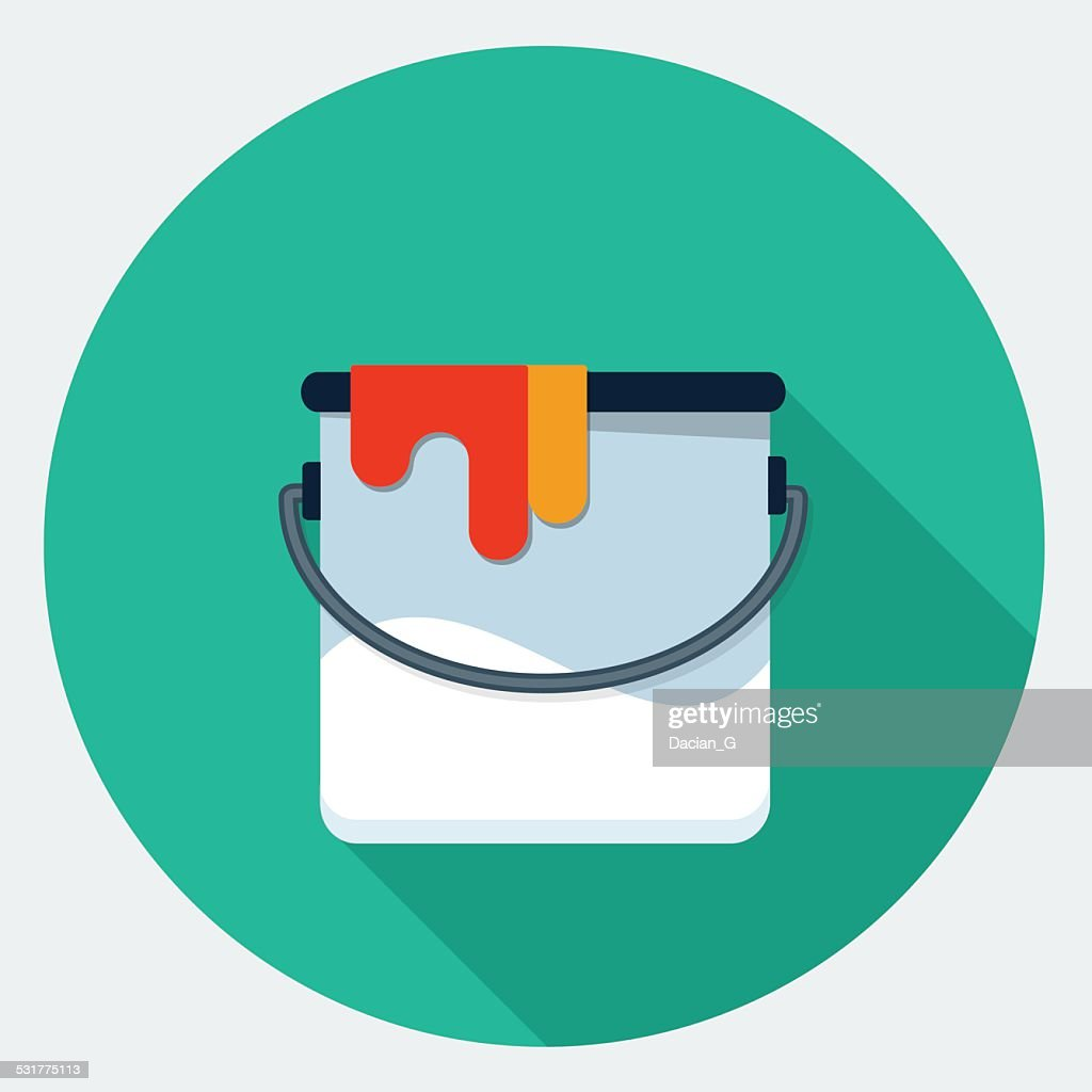 Vector paint can icon