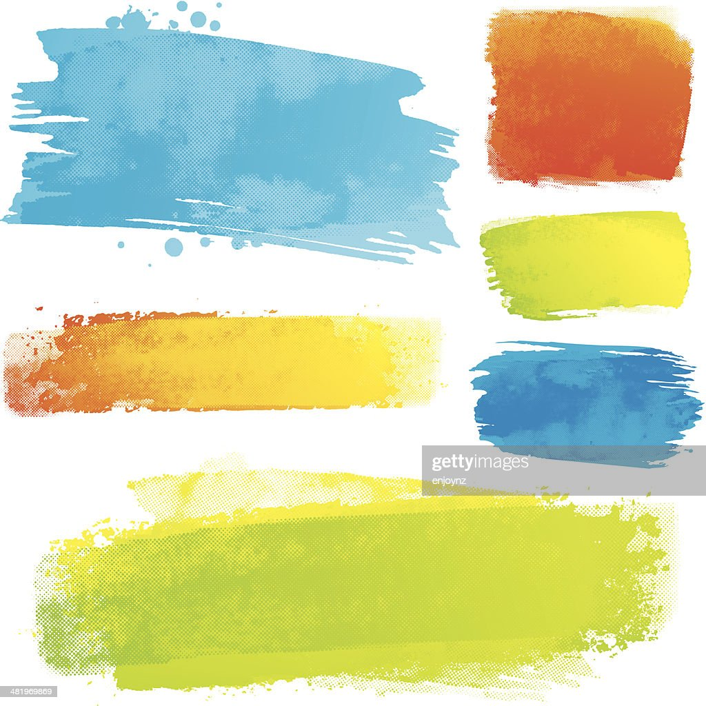 Vector paint strokes