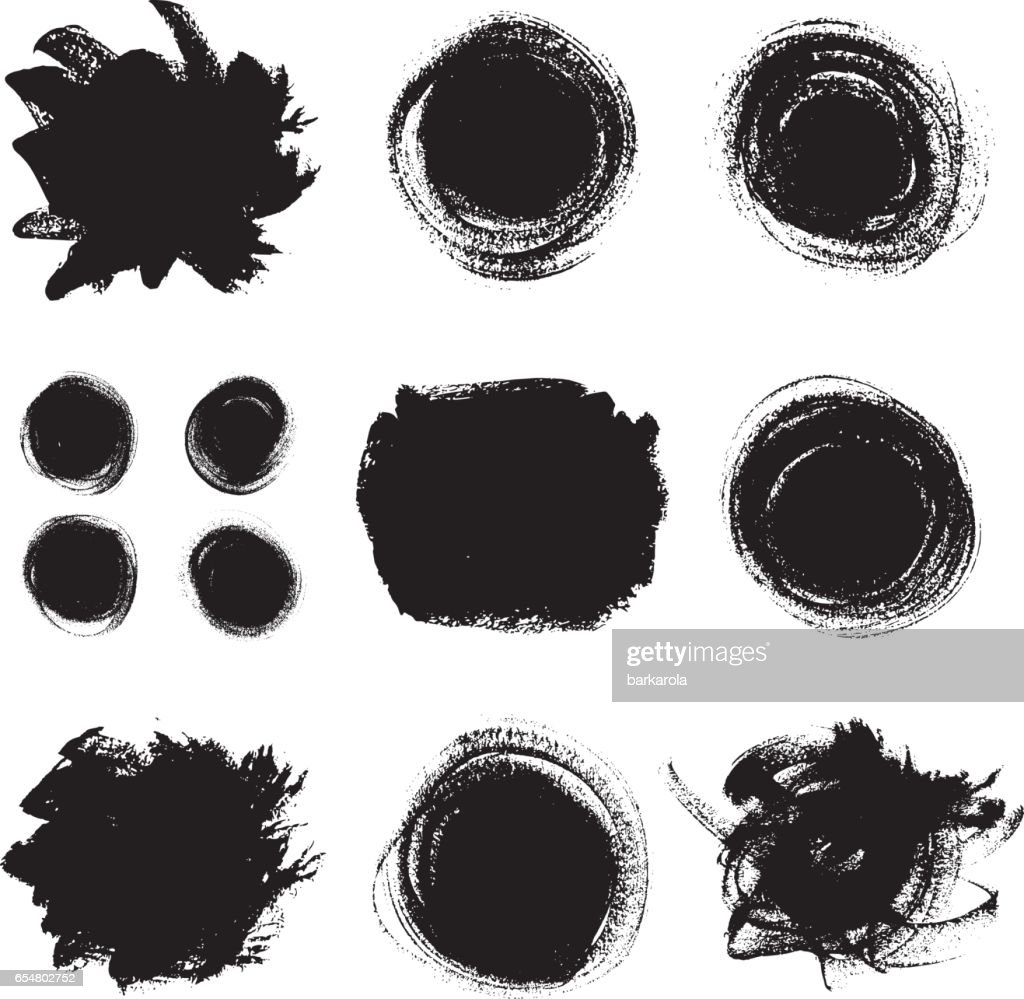 Vector paint textures set.