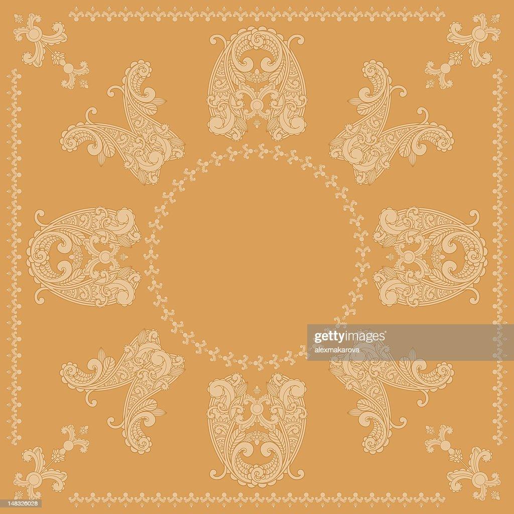 vector paisley bandana